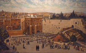 Western Wall, oil on canvas by Venyamin Zaslavsky. Courtesy Chassidic Art Institute