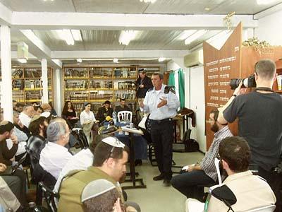 Brigadier General Rabbi Rafi Peretz at the Siach Yitzhak yeshiva in Gush Etzion.