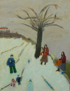 My Grandchildren (2010), oil on canvas by Leah Ashkenazy