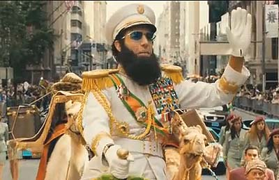 "Sacha Baron Cohen in his new title role as ""The Dictator"""