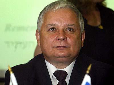 Polish President Lech Kaczynski at Yad Vashem.