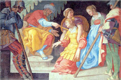 Jerónimo Cabrera, Esther faints before Ahasuerus, Queen's Room, Pardo.