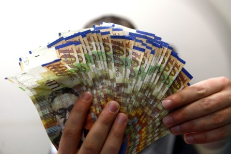 You need more shekels to buy a dollar following Fischer&#039;s surprise cut in the interest rate and announcement of a massive purchase of dollars.