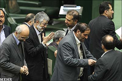 The Iranian Parliament (Majlis) held an open session on Monday morning.