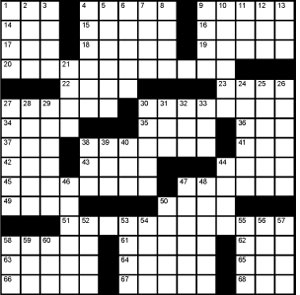 Crossword-Bad Puns