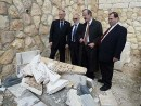 NY lawmakers view vandalized Jewish graves on Mount of Olives.