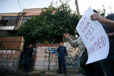 Protests against Israel 'apartheid'