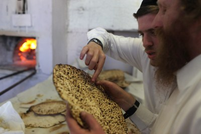 Making matza by hand in Jerusalem