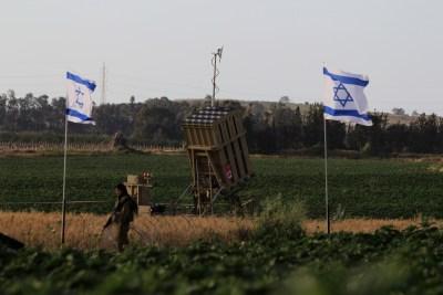 Iron Dome launcher in Ashkelon