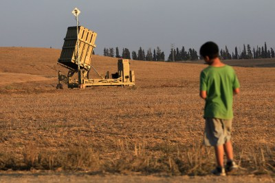 Iron Dome anti-missile system.