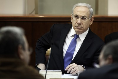 PM Binyamin Netanyahu at the weekly cabinet meeting at the Prime Minister offices in Jerusalem, Sunday, March 11, 2012.