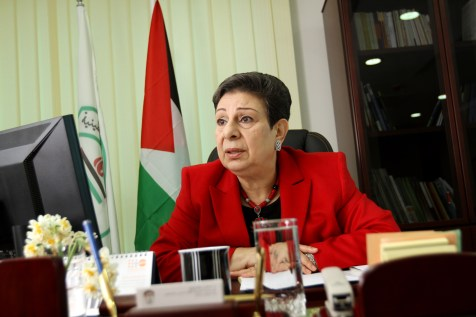 Palestinian Authority politician Hanan Ashrawi threatens to go back to the UN over Israeli homes for Jews
