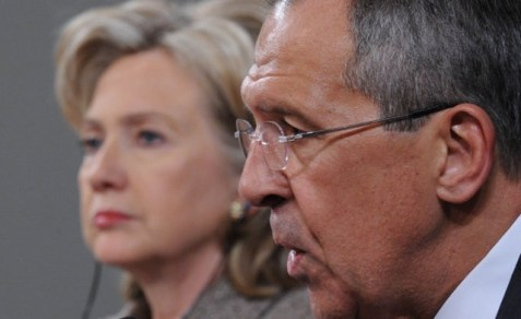 Secretary of State Hillary Clinton with Russian Foreign Minister Sergei Lavrov