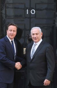 British PM David Cameron and Israeli PM Binyamin Netanyahu.