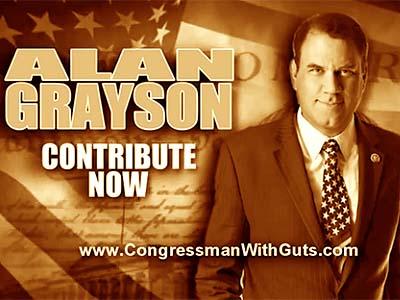 Alan Grayson campaign fundraising ad