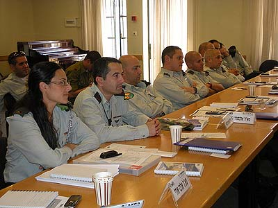 Symposium regarding ethics during warfare given to IDF commanders by the Education Corps.