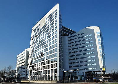 The International Criminal Court building in the Hague, the Netherlands.