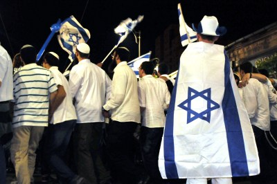 Israelis celebrating Israel's Independence Day in Jerusalem