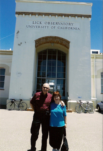 Dov and Barbara at the James Lick Observatory.