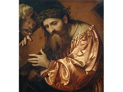 """""""Jesus Carrying the Cross Dragged by a Rogue,"""" by Girolamo Romano will be returned to its Jewish owners."""