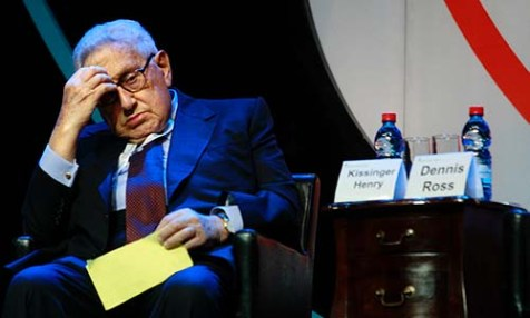 Henry Kissinger in Jerusalem.