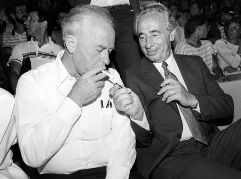 Yitzhak Rabin and Shimon Peres