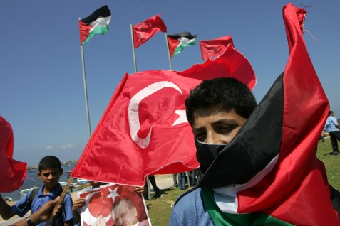 Palestinian students rally for Turkish PM  Erdogan