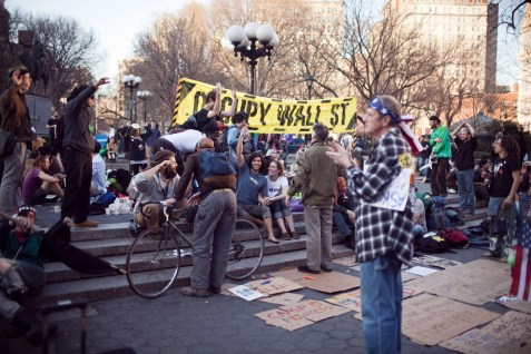 "The ""Occupy Wall Street"" movement demonstrate on Union Square, New York City."