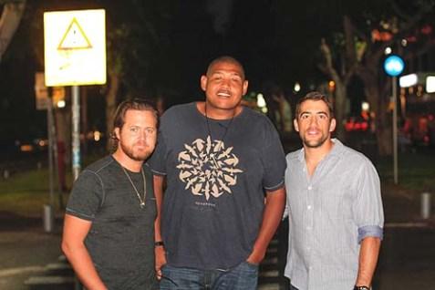 Left to right: AJ Buckley, Omar Benson Miller, and Jonathan Togo.