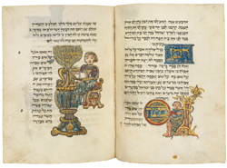 "Mahzor; ""Matzah & Maror"" illuminated manuscript (ca. 1490s). Courtesy Christie's Images Ltd, 2012"