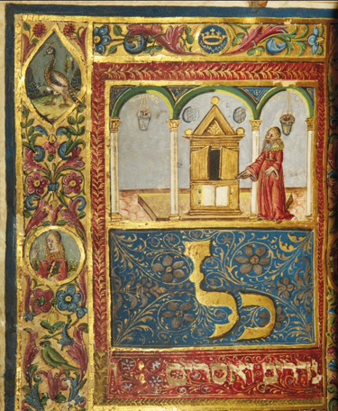 "Mahzor; ""Kol Nidarim"" illuminated manuscript (ca. 1490s). Courtesy Christie's Images Ltd, 2012"