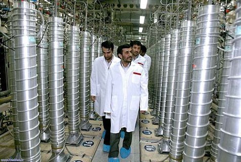 President Mahmoud Ahmadinejad reviewing one of Iran&#039;s nuclear plants.