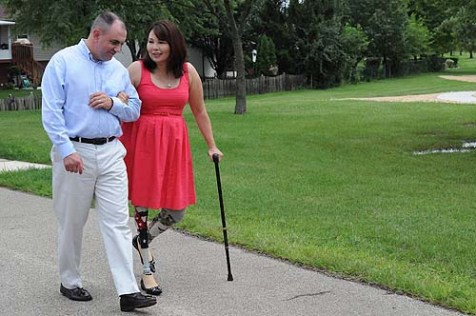 Democrat Tammy Duckworth (seen with husband Bryan, an Army Major) received J Street support and now favors a Palestinian State.