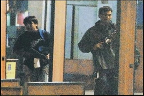 Terrorists in Mumbai, 2008.
