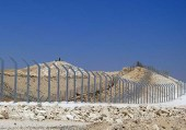 The new security fence is under construction along the Israel-Egypt border.