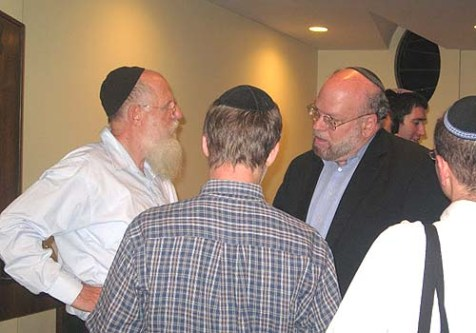 J. Ezra Merkin (R) with Rabbi Yaacov Medan, Co-Dean of Yeshivat Har Etzion.