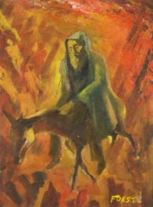 The Messiah (20th century) oil on board by Siegmund Forst  Courtesy Kestenbaum & Company