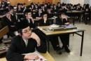 Ultra Orthodox Jewish youths studying