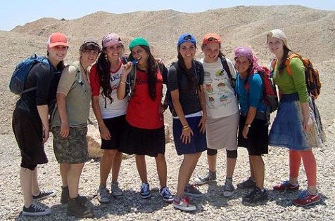 "A ""wonderful, diverse group of Camp Sdei Chemed girls"" being both modest and cute."