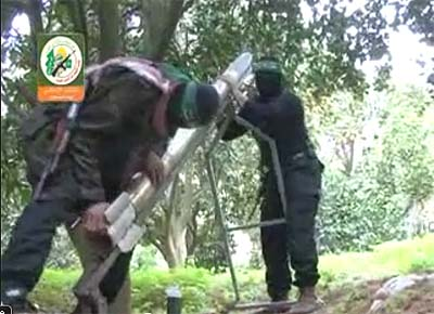 Hamas terrorists prepare their version of the cease-fire.
