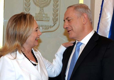 Prime Minister Benjamin Netanyahu met with Secretary of State Hillary Clinton in Jerusalem. July 16, 2012.