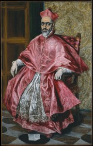 Cardinal (ca.1600) oil on canvas by El Greco