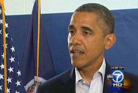 President Obama on WJLA-TV Sunday