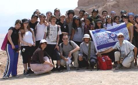 Ozar Hatorah students during a trip to Israel a few years ago.