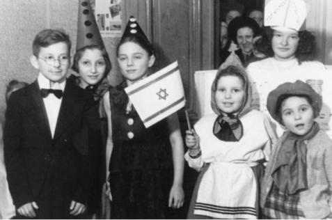 Purim Party at the Koordinatzia orphanage in Lodz