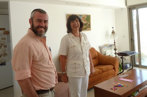Christiane Amanpour and Yishai Fleisher