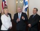 Hillary Clinton, Benjamin Netanyahu, and Ehud Barak