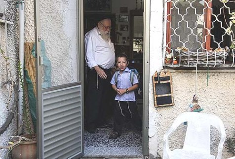 Moshe Holtzberg's First Day of School