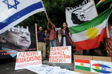 Pro-Kurd protest