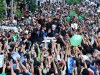 An example of a moderate Muslim movement which the West did not back: A pro-democracy green protest in Iran with Mir-Hussein Mousavi, the candidate who ran against Mahmoud Ahmadinejad, June 19, 2009.